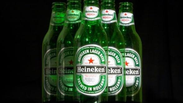 Volumul vanzarilor de bere ale Heineken in Romania a stagnat in primul trimestru