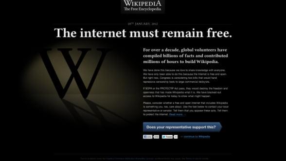 Wikipedia nu merge si ne vom putea stoca datele personale: Revista presei de business