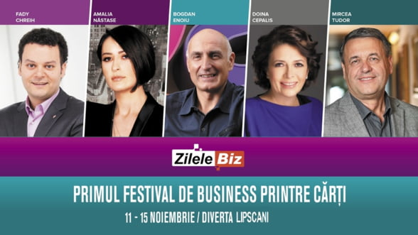 Zilele Biz & Serile Diverta, primul festival de business printre carti