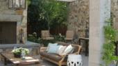 Terasele in stil mediteranean: folosirea travertinului
