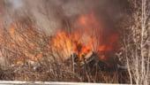 Incendiu puternic in Voluntari. Populatia a fost avertizata prin RO-Alert sa stea in casa (Foto&Video)