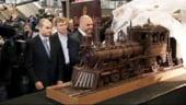 Record dulce: Cel mai lung tren de ciocolata poate fi admirat in gara din Bruxelles