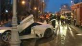 Un Lamborghini de 200.000 de euro, distrus intr-un accident in Bucuresti
