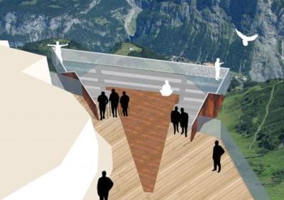 """Alpii elvetieni vor putea fi admirati de pe o """"ametitoare"""" platforma de sticla"""