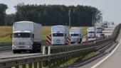 Convoi rusesc blocat la granita cu Ucraina: Ce se va intampla cu camioanele Rusiei