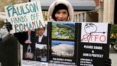 Rosia Montana, New York. Protest impotriva proiectului, la casa miliardarului John Paulson