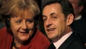 Nicolas Sarkozy se intalneste cu Angela Merkel pentru a pregati summitul UE