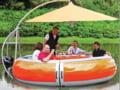 Barca cu sistem barbecue. Muta petrecerea pe valuri!