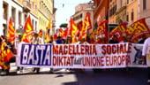 Protest la Roma impotriva planului de austeritate al lui Monti