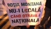 Mii de bucuresteni au protestat, duminica, impotriva exploatarii de la Rosia Montana