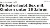 Controversa si scandal diplomatic Turcia - Austria din cauza schimbarii unei legi privind sexul cu minori