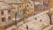 """Lucrarea """"Strada iarna"""" a lui Theodor Pallady, scoasa la licitatie"""