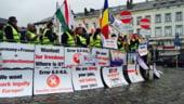 Transportatorii romani vor protesta joi, la Bruxelles: Vestul Europei vrea sa ne bage in faliment!