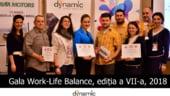 Dynamic HR anunta castigatorii Galei Work-Life Balance, editia a VII-a, 2018