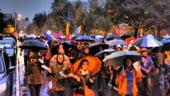 Mii de persoane au continuat sa protesteze fata de proiectul Rosia Montana, in ciuda vremii