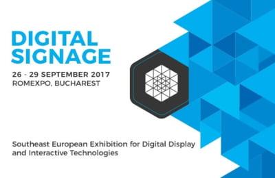 Vino la DIGITAL SIGNAGE, prima expozitie din sud-estul Europei dedicata display-urilor digitale si tehnologiilor interactive!
