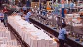 Productia industriala din Romania a scazut mai lent decat in UE