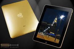 iPad din aur masiv si incrustat cu diamante